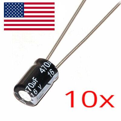 10pcs 470uf 16v Electrolytic Capacitors