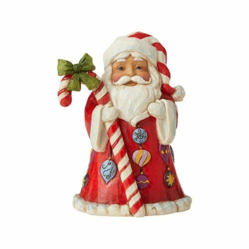 Jim Shore HEARTWOOD CREEK Christmas MINI SANTA WITH CANDY CANE 6006662 NEW