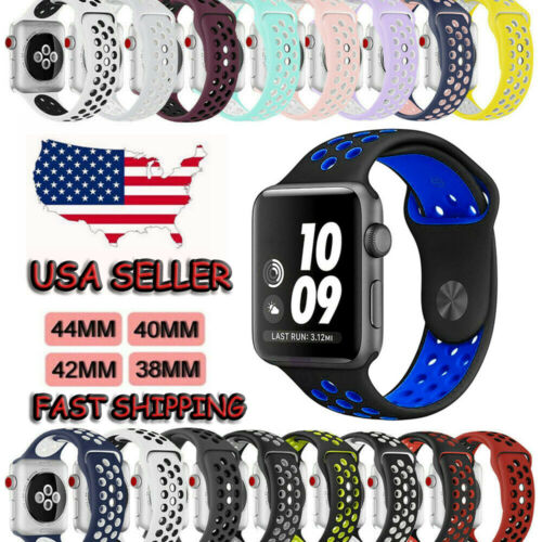 Silicone Sport Band For Apple Watch 1/2/3/4/5 iWatch Strap 4