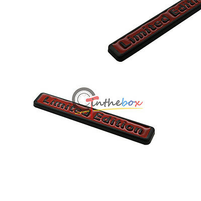 ((1) 3D Metal Black Red LIMITED EDITION Car Rear Lid Fender Trunk Sticker Emblem)