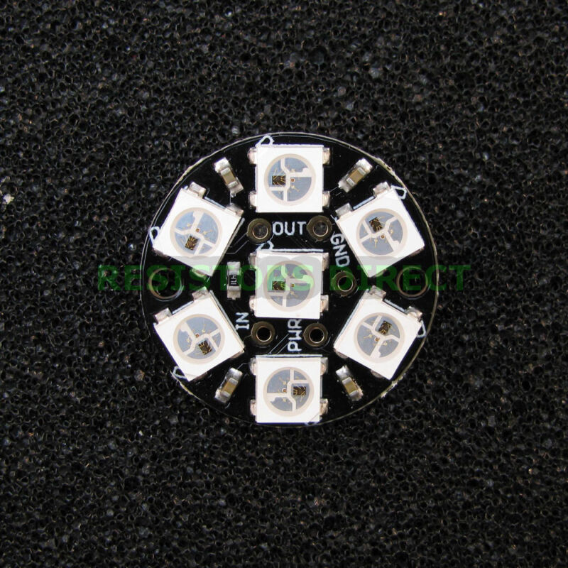 Adafruit NeoPixel Jewel 7 x WS2812 5050 RGB LEDs Integrated Drivers Gemma G10