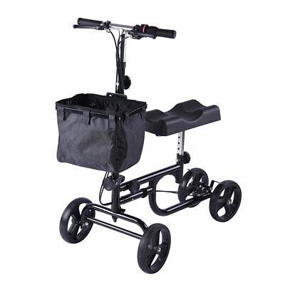 Knee Walker Adjustable Scooter Steerable Dual Brake Knee Rol