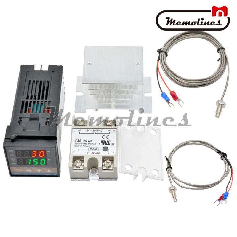 220V REX-C100 PID Temperature Controller Thermostat SSR output SSR 40DA relay