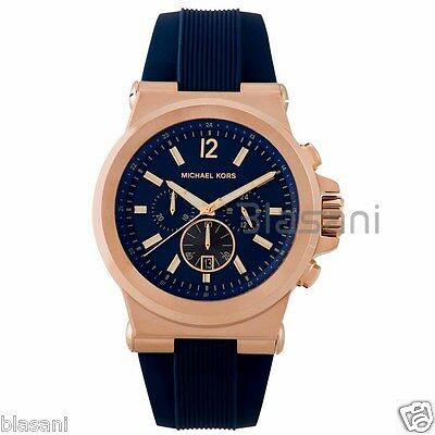 Michael Kors Original MK8295 Men's Stainless Steel Chronograph Watch Blue
