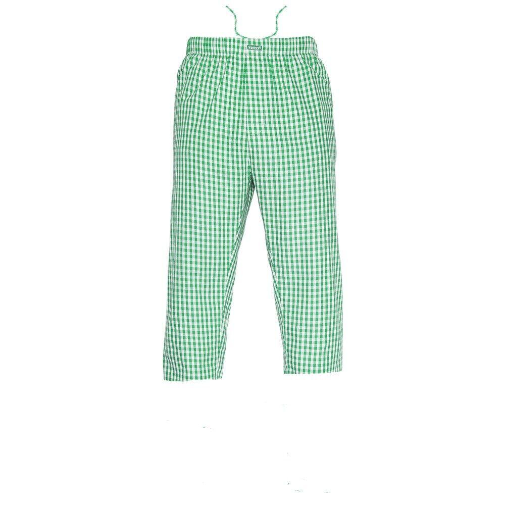 Ritzy Men's 3-Quarter Pajama Pants 100% Cotton Plaid Woven Poplin – R,B&W Checks Clothing, Shoes & Accessories