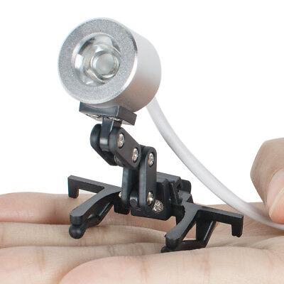 1w Clip Clamp Led Head Light Lamp For Dental Binocular Loupes Glasses Tool New