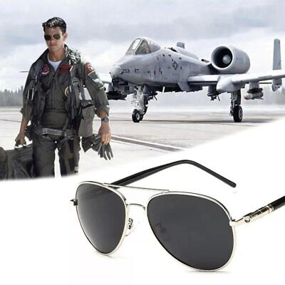 Tom Cruise Polarized Jet Fighter Tinted Sunglasses Aviation Glasses (Fighter Pilot Sunglasses)