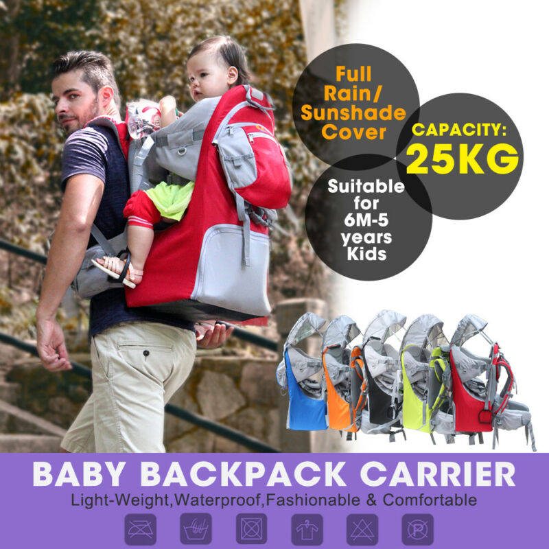 US Beimaiy Baby Toddler Backpack Carrier Stand Child Kid Sunshade Visor Shield