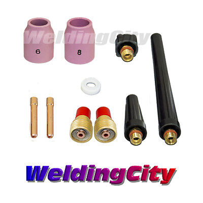 Tig Welding Gas Lens Accessory Kit 332 For Torch 92025 T40 Us Seller