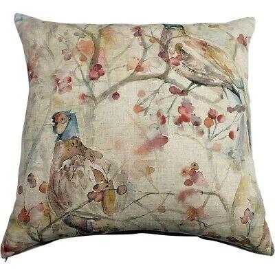 Voyage Maison Blackberry Row Cushion Cover   Pheasant 50x50cm Linen Cushion