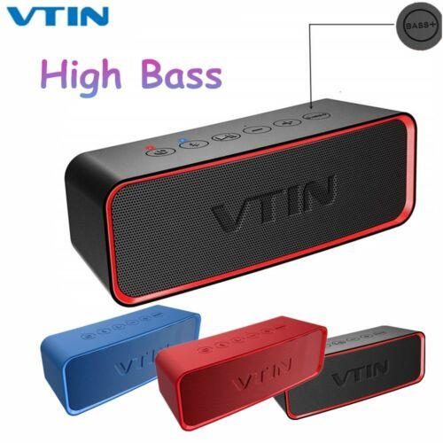 VTIN Portable Bluetooth Speaker IPX6 Wireless Stereo Super Bass Audio Subwoofer