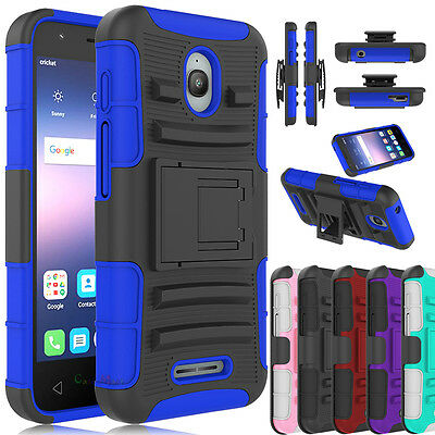 For Alcatel Ideal / Dawn 5027B Phone Case Holster Hybrid Stand Holder Back Cover