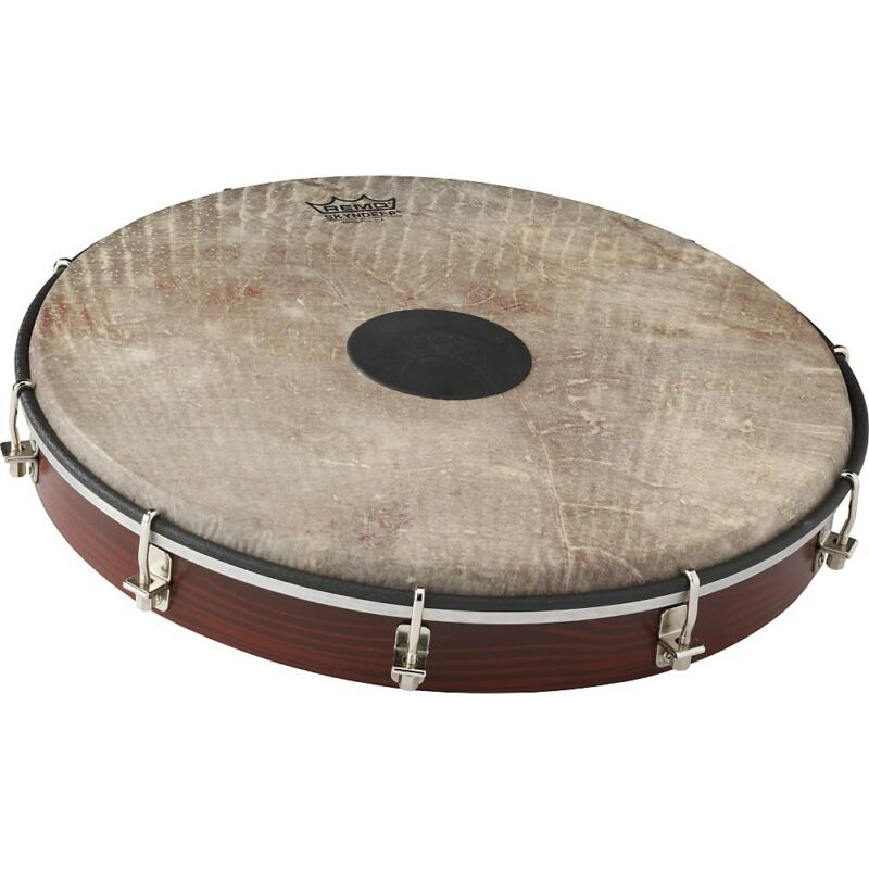 Remo Tablatone Frame Drum Brown and White Skyndeep Fish Skin 12 in. LN