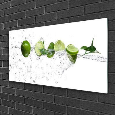Imagen en vidrio Impresión Cuadro de 100x50 Agua lima Cocina
