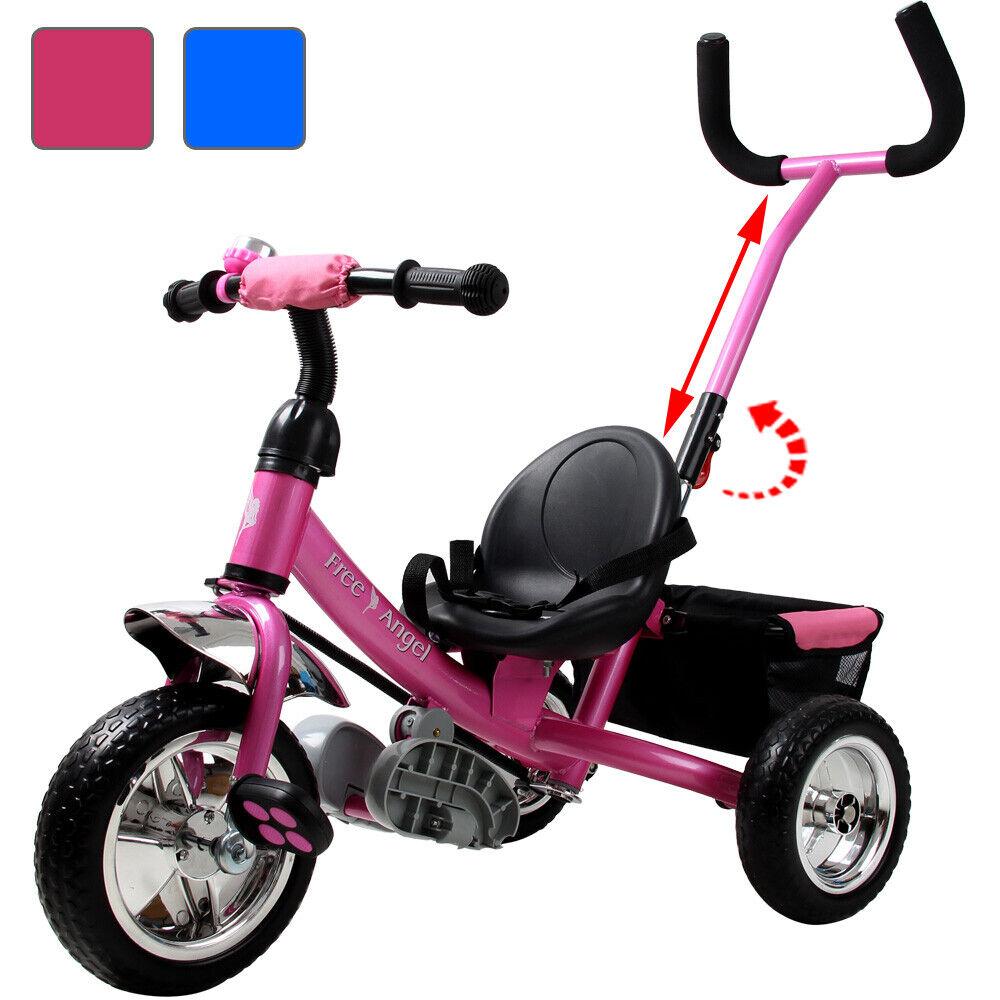 DEUBA® Dreirad Kinderdreirad Kinder Lenkstange Trike Fahrrad Baby Kinderwagen