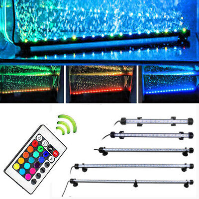Aquarium Lighted Fish Tank - LED Waterproof Aquarium Fish Tank Lamp LED Submersible Bar lights White/Blue/RGB