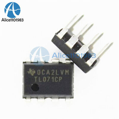 10pcs Tl071 Tl071cp Dip-8 Low Noise Jfet Input Operational Amplifiers Ti Ic New