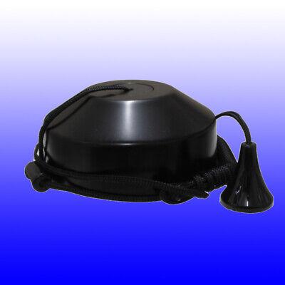 10 Amp Ceiling Pull Cord Switch Bathroom Toilet Light Fan Matt Black 2 Way 10A