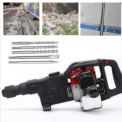 3 In1 32.7cc 2 Stroke Gas Demolition Jack Hammer Concrete Breaker Drill Chisels