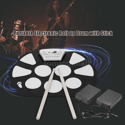 Usb Roll - Professional USB Electronic Roll up Drum Pad Kit with Stick Silicon New G1U0