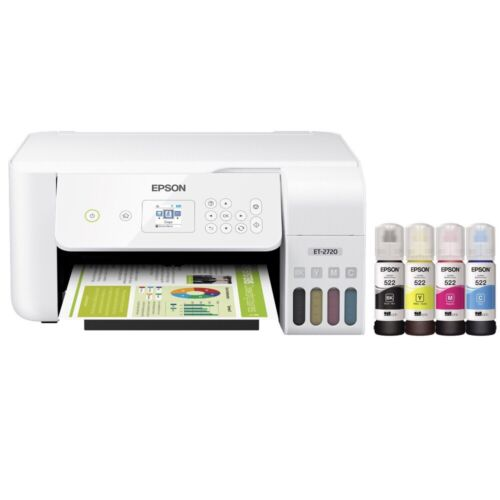 NEW Epson EcoTank ET-2720 Wireless Color All-in-One Super Ta