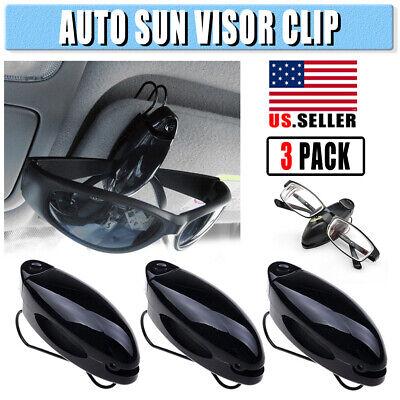 3PCS Car Auto Sun Visor Clip Holder For Glasses Sunglasses Eyeglass Card (Sunglass Clips For Car Visors)
