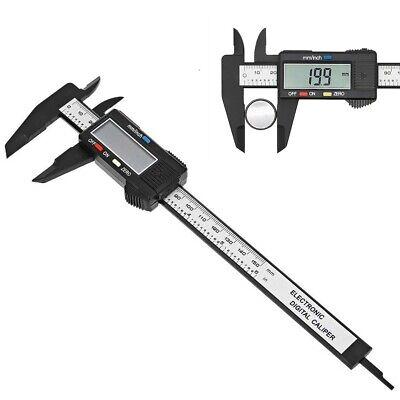 Black 6'' 150mm LCD Digital Vernier Caliper Micrometer Tool Gauge Measure Ruler