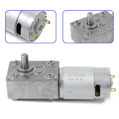1 510rpm Electric Gear Motor Dc12v High Torque Low Speed Worm Reversible
