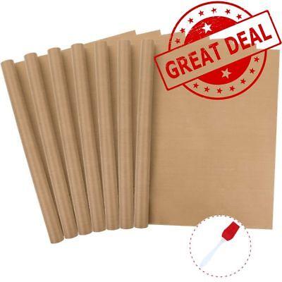 7 Pack Teflon Sheet For Heat Press Resistant 16x24 Oil-proof Non Stick 1brush