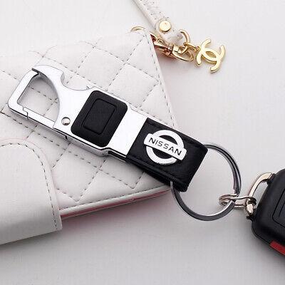 For NN 3D Alloy Black Leather Keychain Ring LED Flashlight Opener Home Car Gift