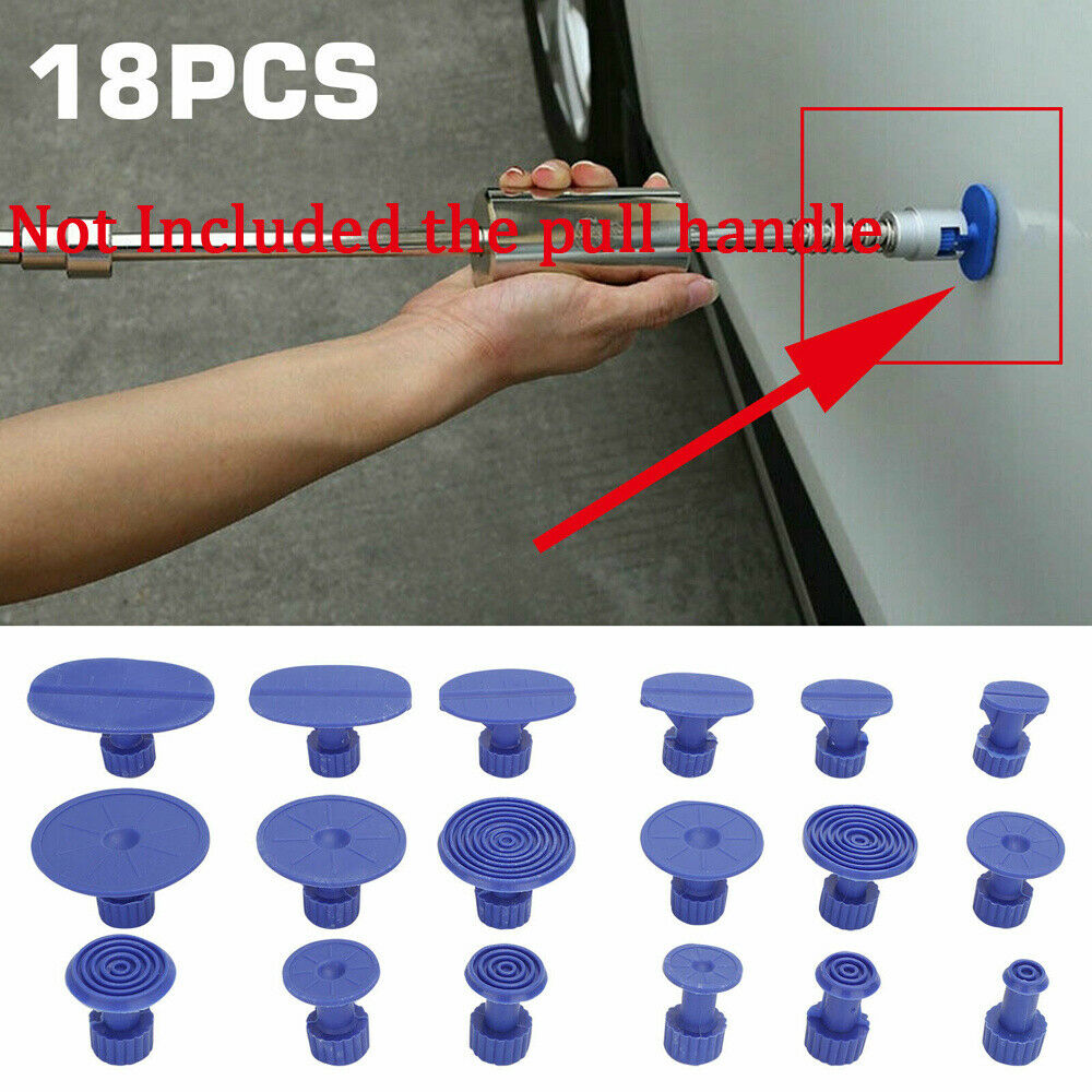 12PCS Paintless Hail Removal Car Body Dent Repair PDR Tools Glue Puller Tabs Set
