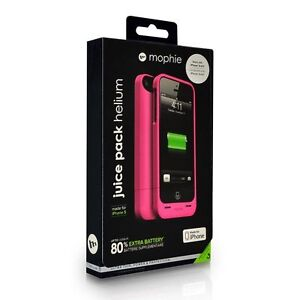 Mophie Juice Pack Helium Rechargeable Battery Case iPhone 5/5S/SE - Pink