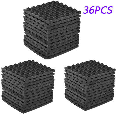 36Pack Acoustic Foam Panels Studio KTV Sound Insulation Soundproofing Equipments