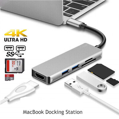 For MacBook Pro Hub Thunderbolt 3 Docking Station USB3.0 C t