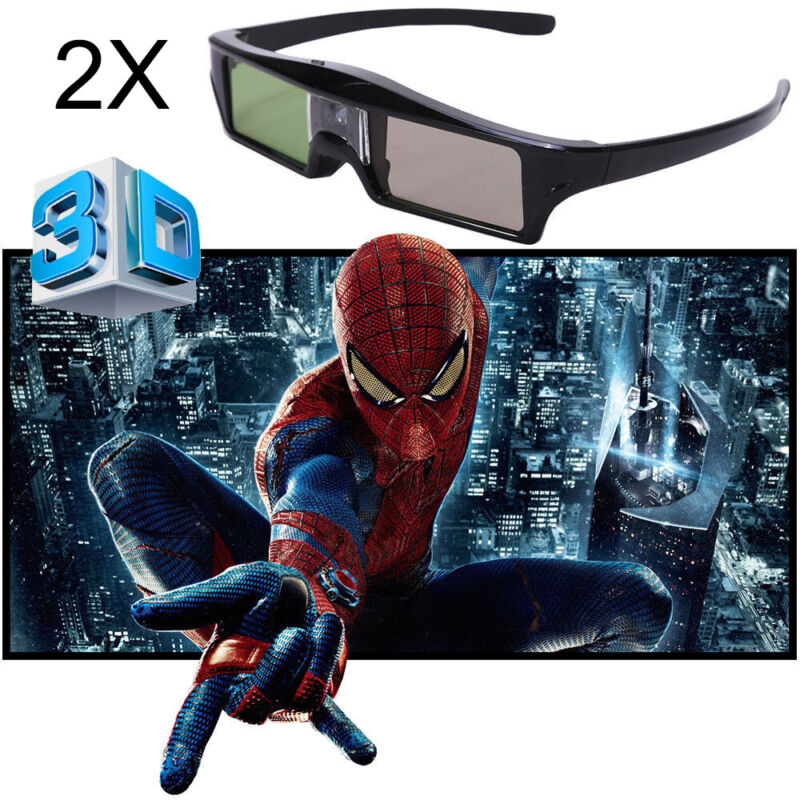 96-144Hz 2x 3D Brille Aktive Shutter Work For DLP-LINK 3D Projector Acer Sharp