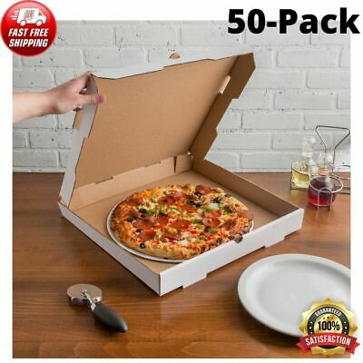 16 X 16 X 2 White Corrugated Plain Pizza Bakery Box Square Durable 50-pack