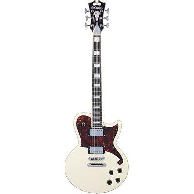 D'Angelico Premier Atlantic HH Electric Guitar SeymourDuncan +Bag -Antique White