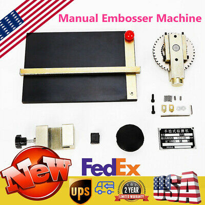 Brand New Manual Signage Machine Steel Plate Stamping Embossing Machine Usa