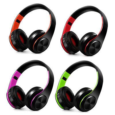 Bluetooth Kopfhörer Stereo Kabellos Sport Headset FM TF für PC / PS4/ TV DE B7L9 Bluetooth Pc Kopfhörer