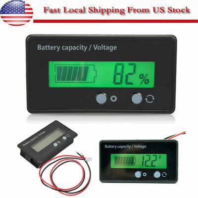 Lcd Display Acid Lead Lithium Battery Capacity Indicator Voltagemeter Tester Us