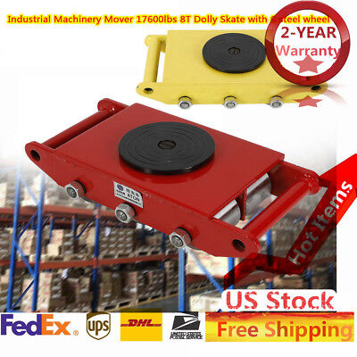 New 8t 6 Steel Wheel Heavy Duty Machine Dolly Skate Roller Machinery Mover 360