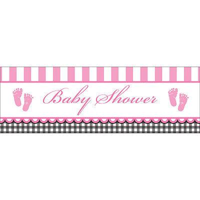 dchen Party Riesiges Banner Dekoration 1-5pk Packung (Baby-dusche-mädchen-party)