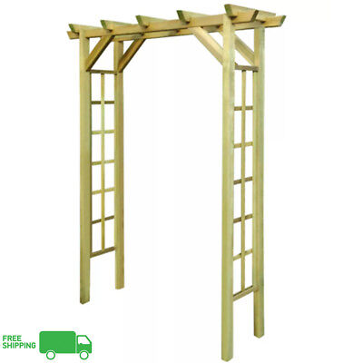 Impregnated Wooden Arbour Rose Arch Garden Outdoor Patio Archway Climbing Plants