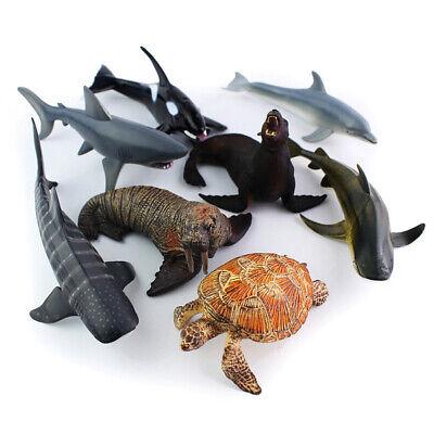 Kunststoff Modell Meer Tier Ozean Hai Wal Delphin Spielzeug Dekoration