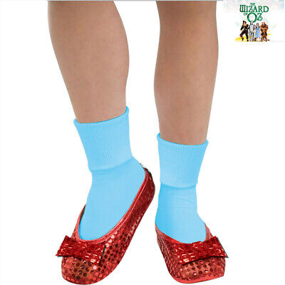 Wizard Of Oz Dorothy Ruby Red Child Girls Sequin Shoe Covers Book Week Accessory - Kids Red Dorothy Shoes