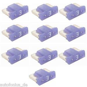 10-unidades-3a-MINI-LP-Vehiculo-Fusible-Micro-Plano-Perfil-Bajo-APS-Coche