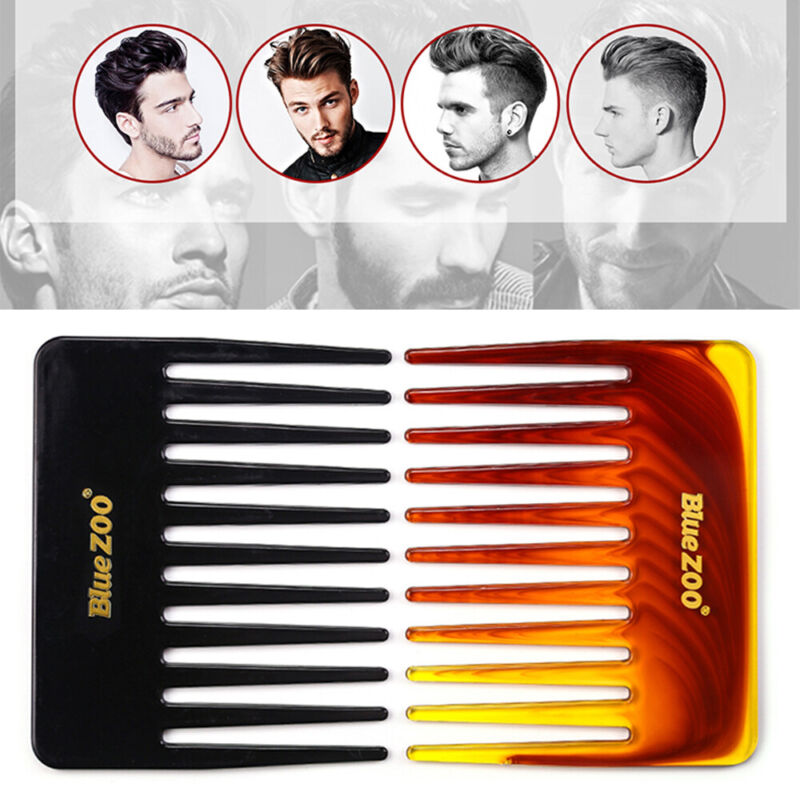 Hairdressing Hair Fork Brush Men's Hair Comb Wide Tooth Comb