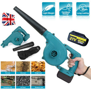 21V 6000mAh Cordless Garden Yard Leaf Snow Blower Air Vacuum Lightweight 2-in-1