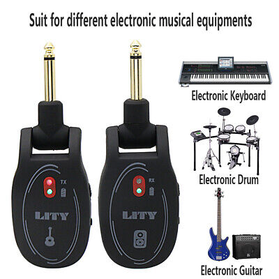 Rechargeable Battery Wireless Guitar System Transmitter & Receiver 50m Range Wireless Guitar Microphone System