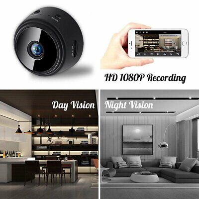 Mini Hidden Spy Camera Wireless Wifi HD 1080P DVR Night Vision House Security US